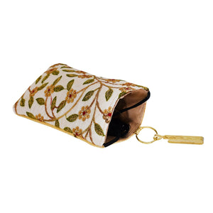 Ethnic Raw Silk Mobile Pouch Waist Clip