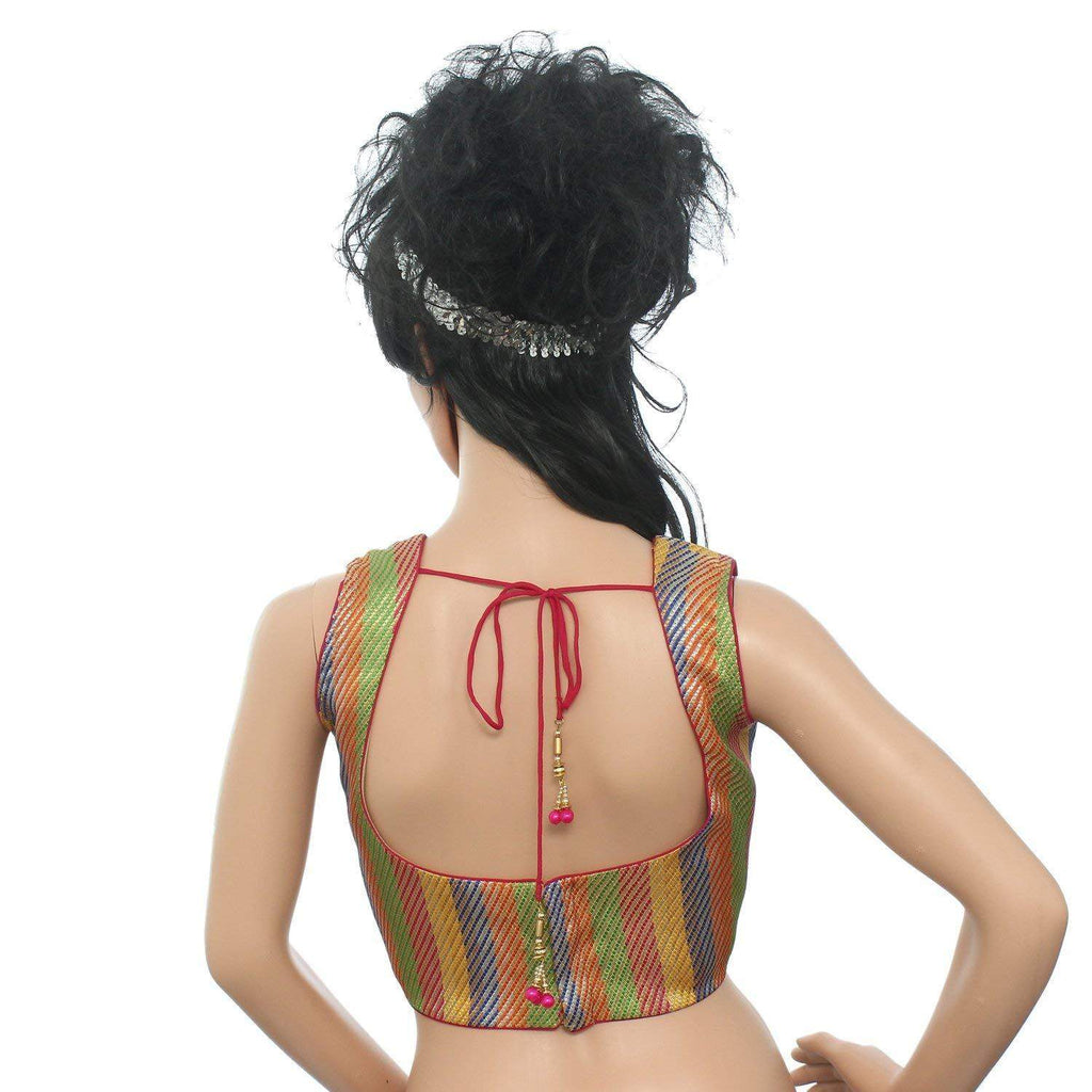 Readymade Designer Saree Blouse For Women's (Multicolor) - Bagaholics Gift