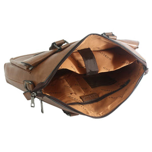 PLUTUS Office Bag PU Laptop Bag (Brown) - Bagaholics Gift
