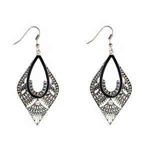 Antique Oxidized Gold Silver Dangle & Drop Earrings - Bagaholics Gift