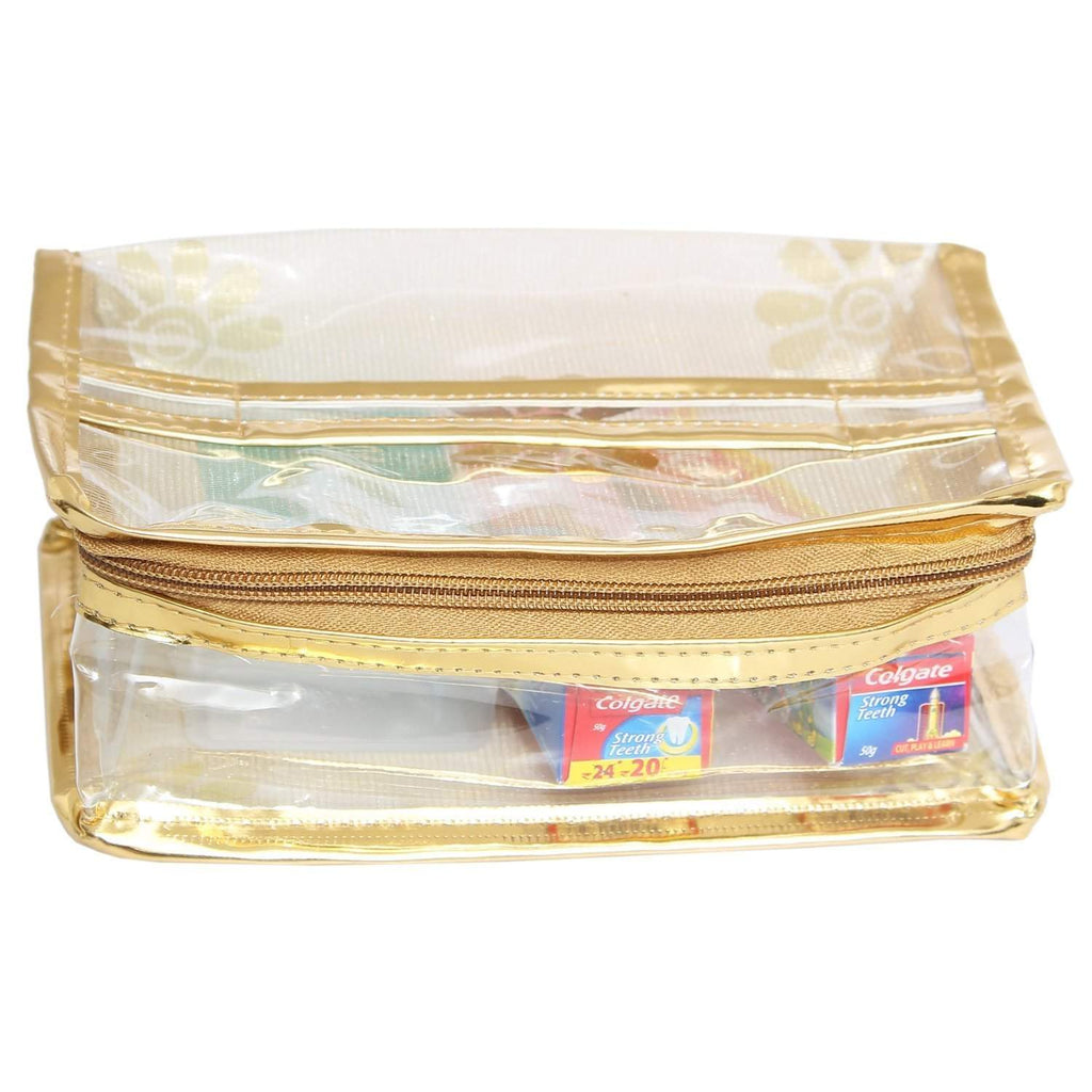 Makeup Pouch (Gold) - Bagaholics Gift