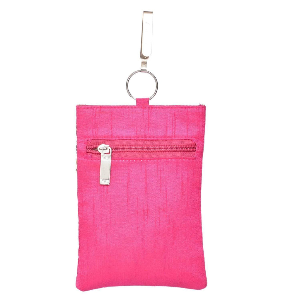 Waist Clip Mobile Pouch (Pink) - Bagaholics Gift