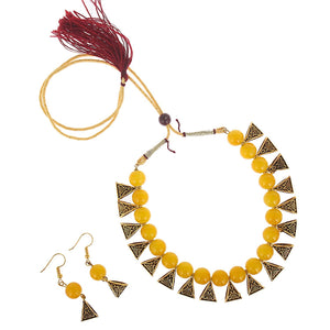 Moti Necklace Choker Jewellery Set with Earrings - Bagaholics Gift