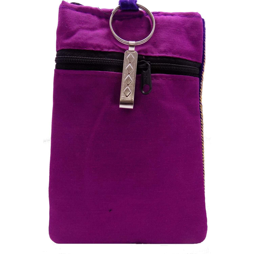 Waist Clip Mobile Pouch  (Purple) - Bagaholics Gift
