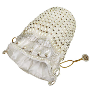 Beads and Pearls Diamond Studded Batwa Potli - Bagaholics Gift