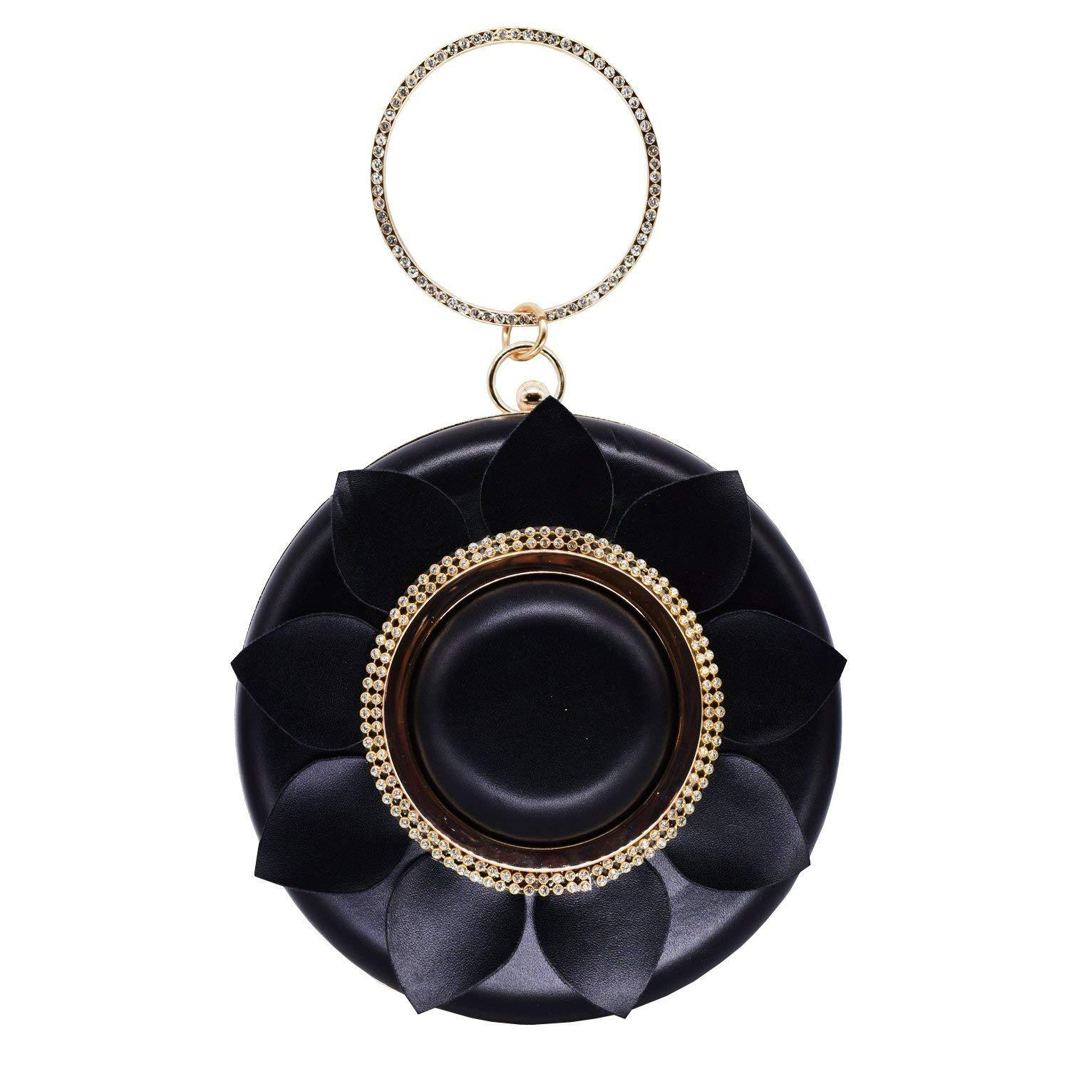 Round shape Diamond Studded Party wear Clutch - Bagaholics Gift