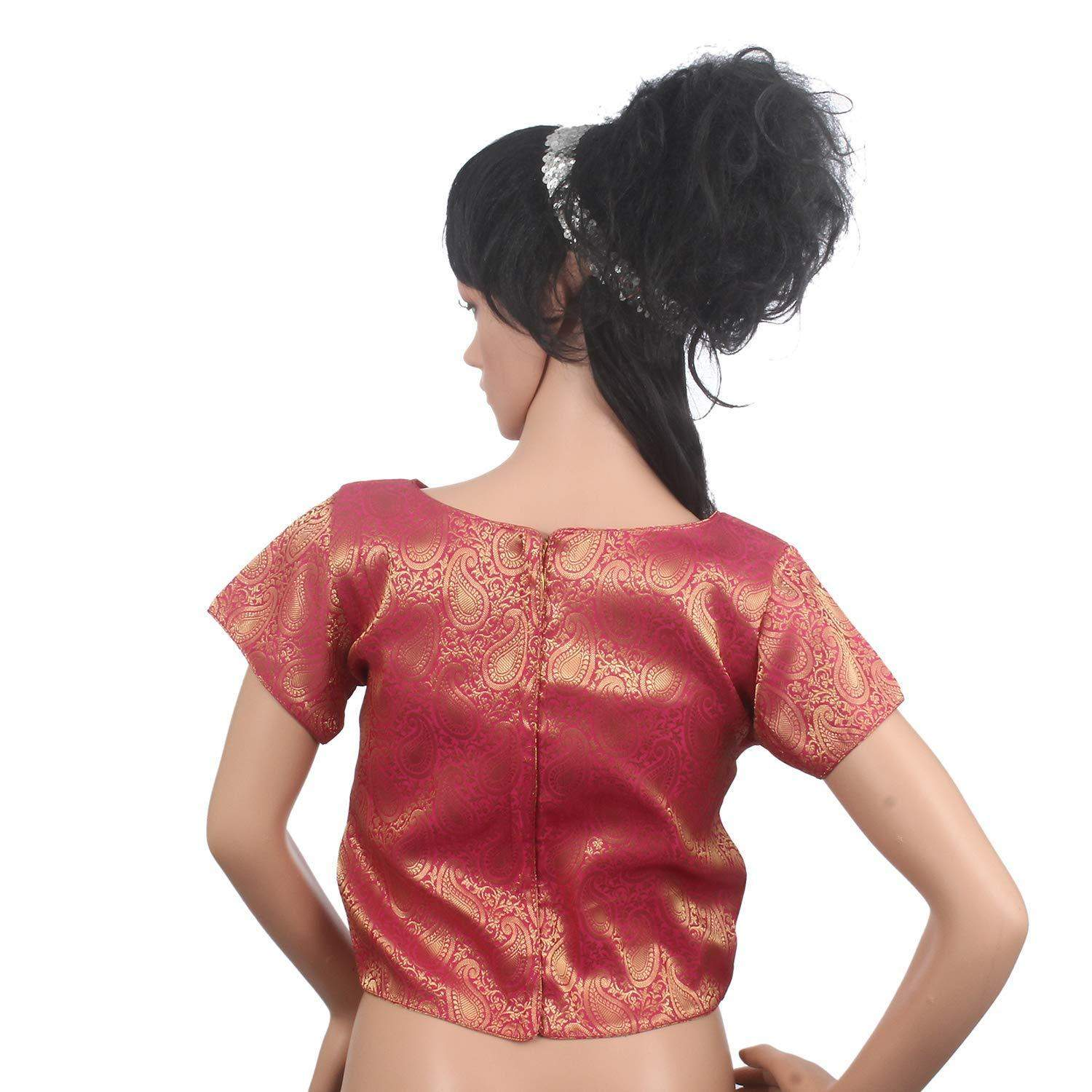 Readymade Designer Saree Blouse For Women's Pink - Bagaholics Gift