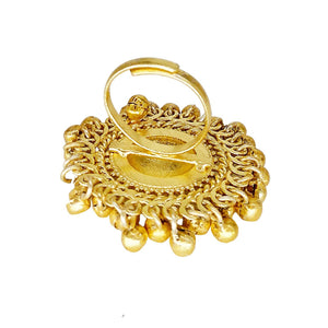 Adjustable Free Size Gold Plated Ring - Bagaholics Gift