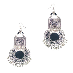 Oxidised Silver Chandbali Earring
