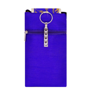 Raw Silk Mobile Pouch Waist Clip