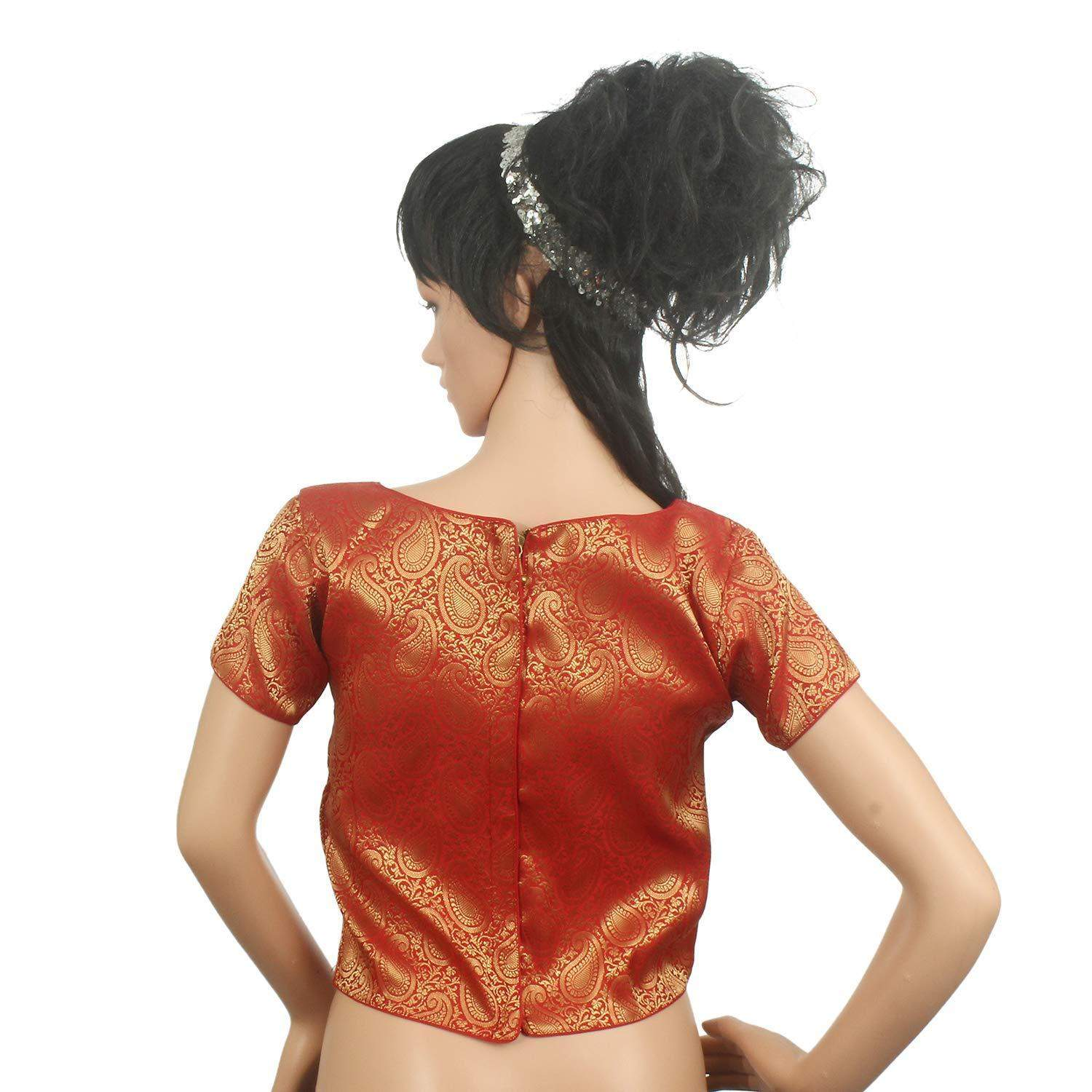Readymade Designer Saree Blouse For Women's Red - Bagaholics Gift