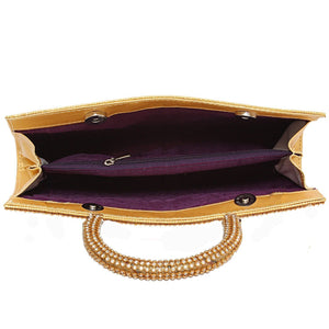 Golden Party Clutch - Bagaholics Gift