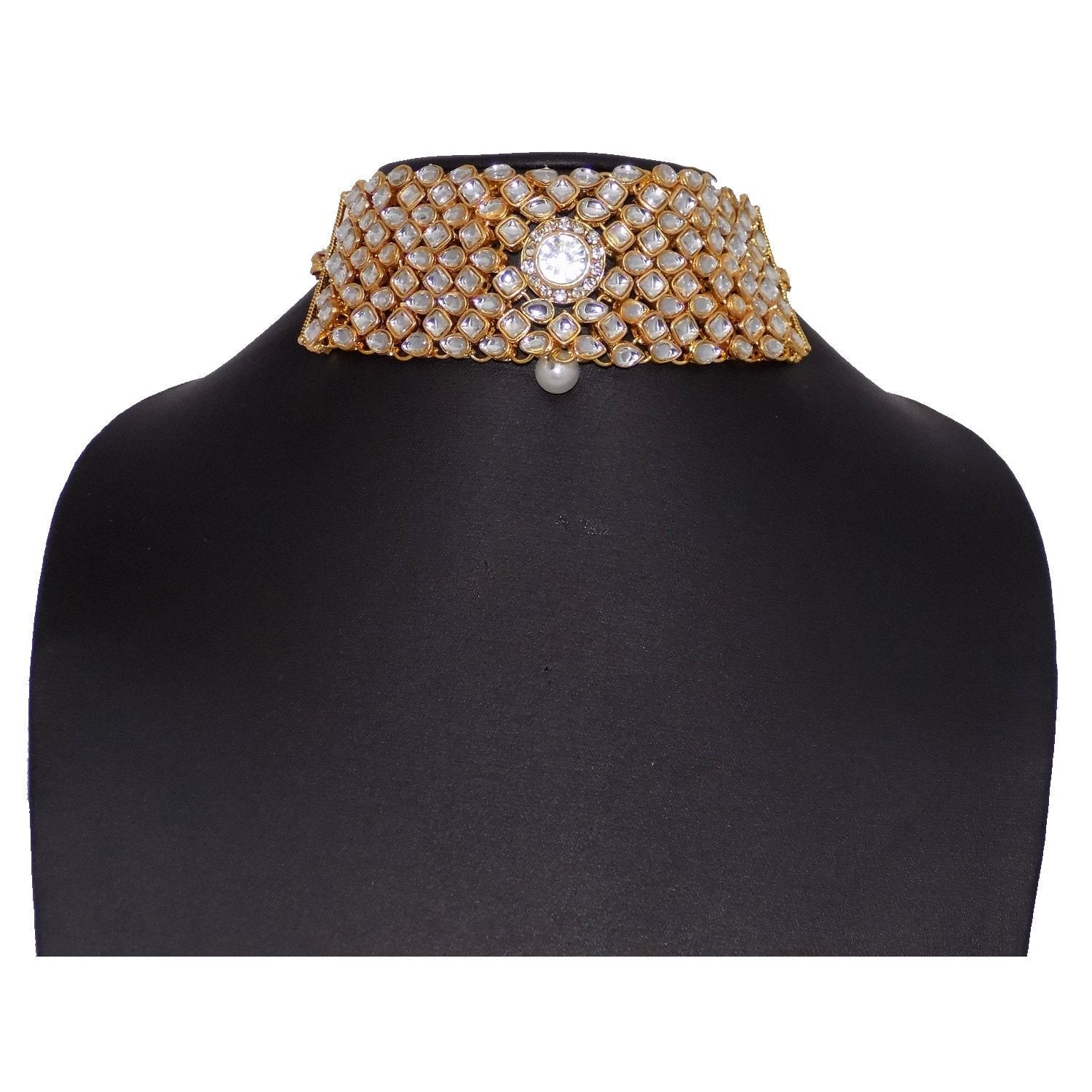 Diamond Choker Necklace with Maang Tikka Jewellery Set - Bagaholics Gift