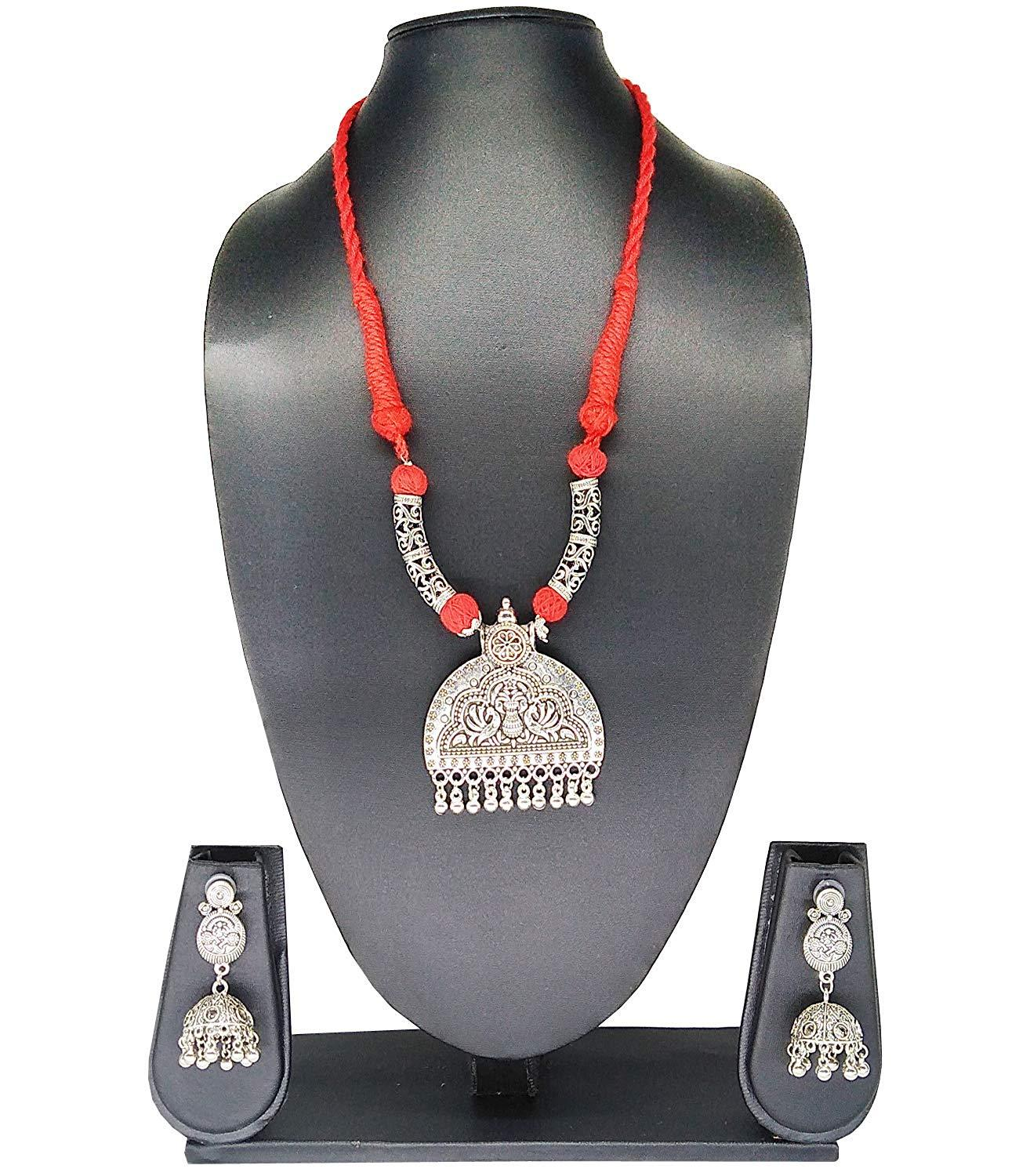 Silver Plating Handcrafted Necklace and Earring Set - Bagaholics Gift