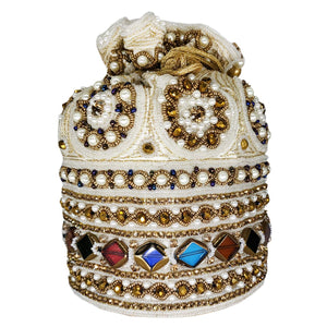 Beads Pearls and Gemstone Diamond Studded Designer Batwa Potli - Bagaholics Gift