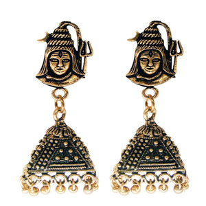 Jhumka Jhumki Earrings for women (Gold) - Bagaholics Gift