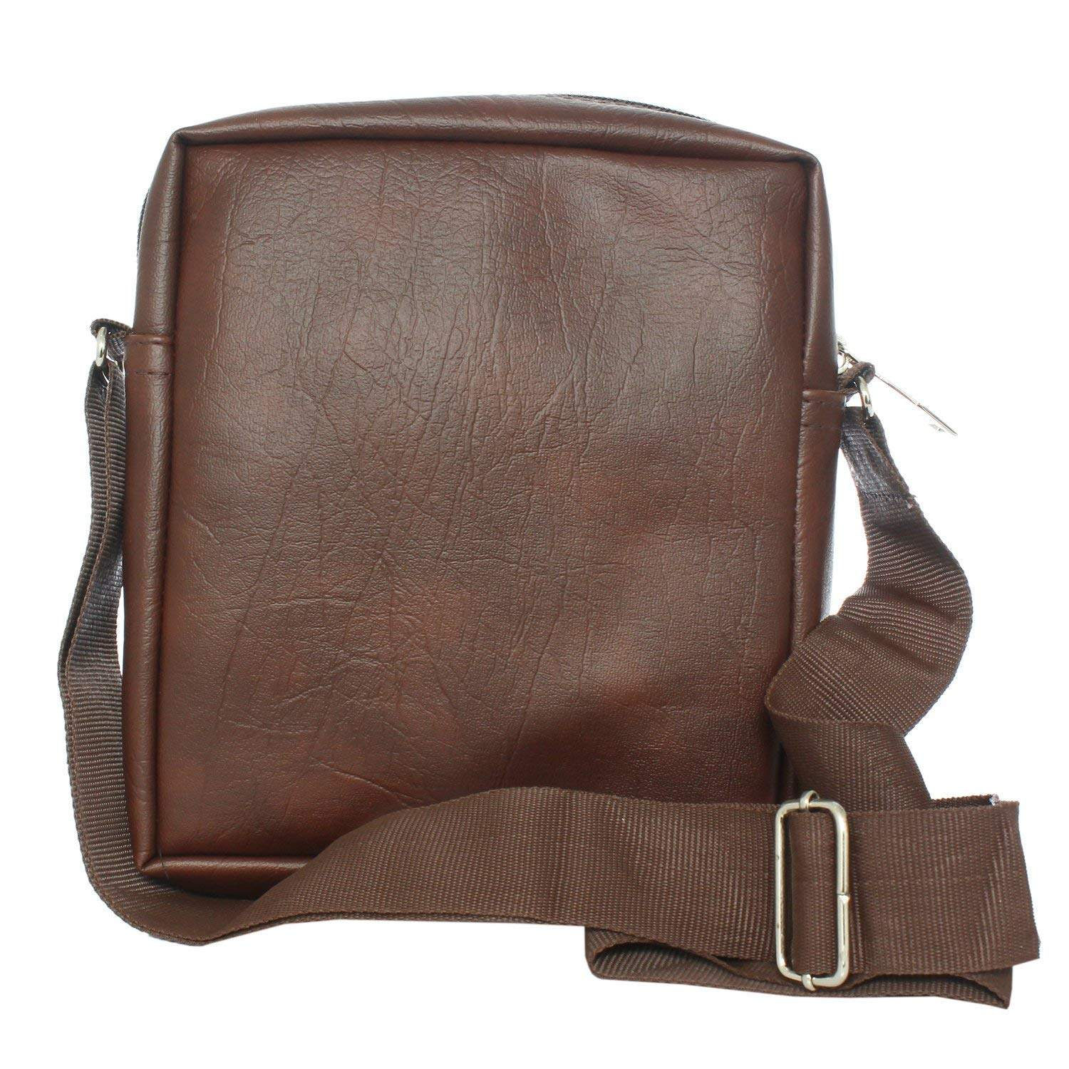 PU Leather Sling Bag Side Bag (Brown) - Bagaholics Gift