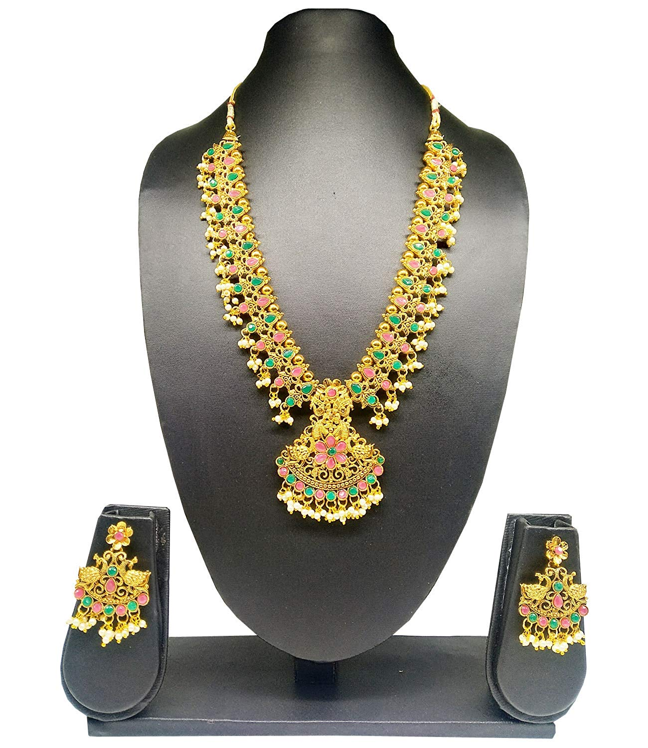Traditional Gold Plated bridal Jewellery Set Necklace Set - Bagaholics Gift