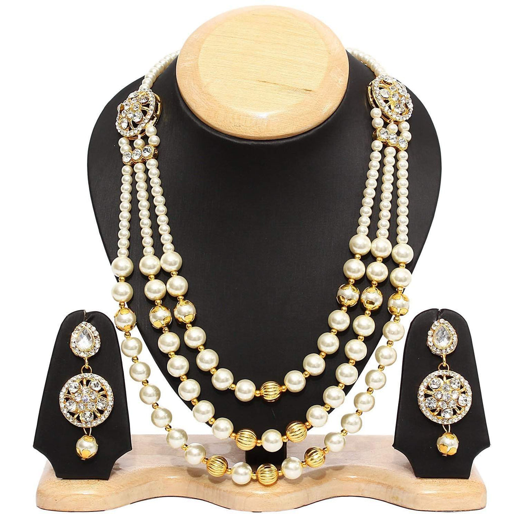White Pearls Necklace Set - Bagaholics Gift
