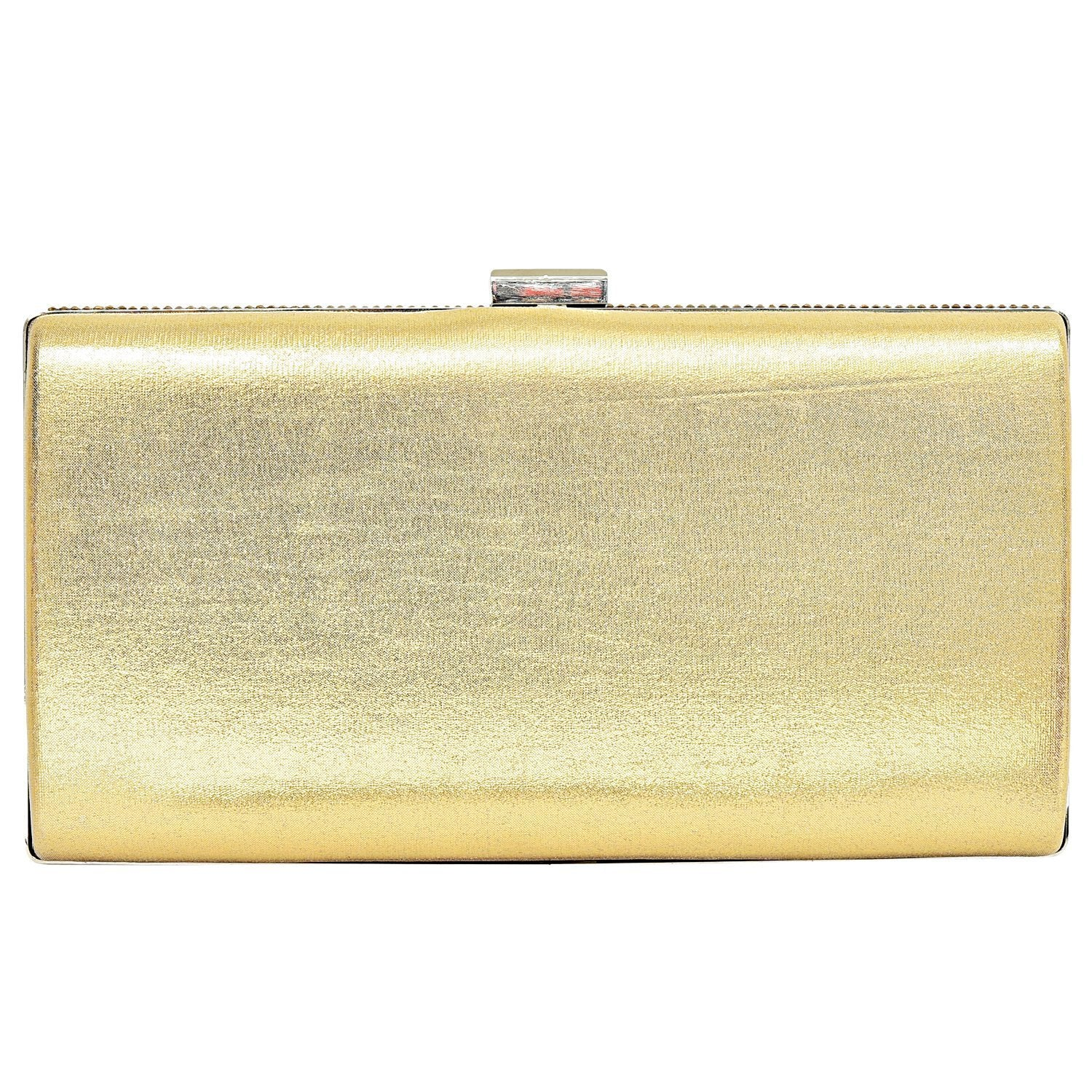 Big Box Golden Party wear Clutches - Bagaholics Gift