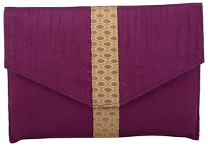 Ethnic Clutch Traditional Strap RawSilk Clutches - Bagaholics Gift