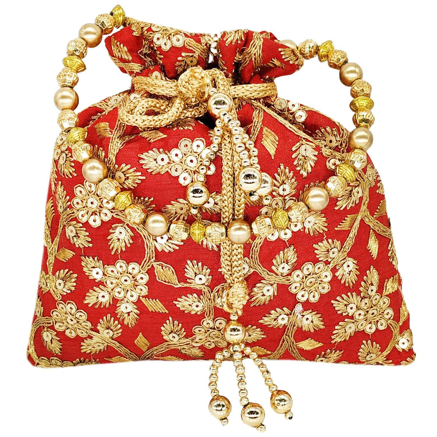 Sequin and Embroidery work Potli Batwa - Bagaholics Gift