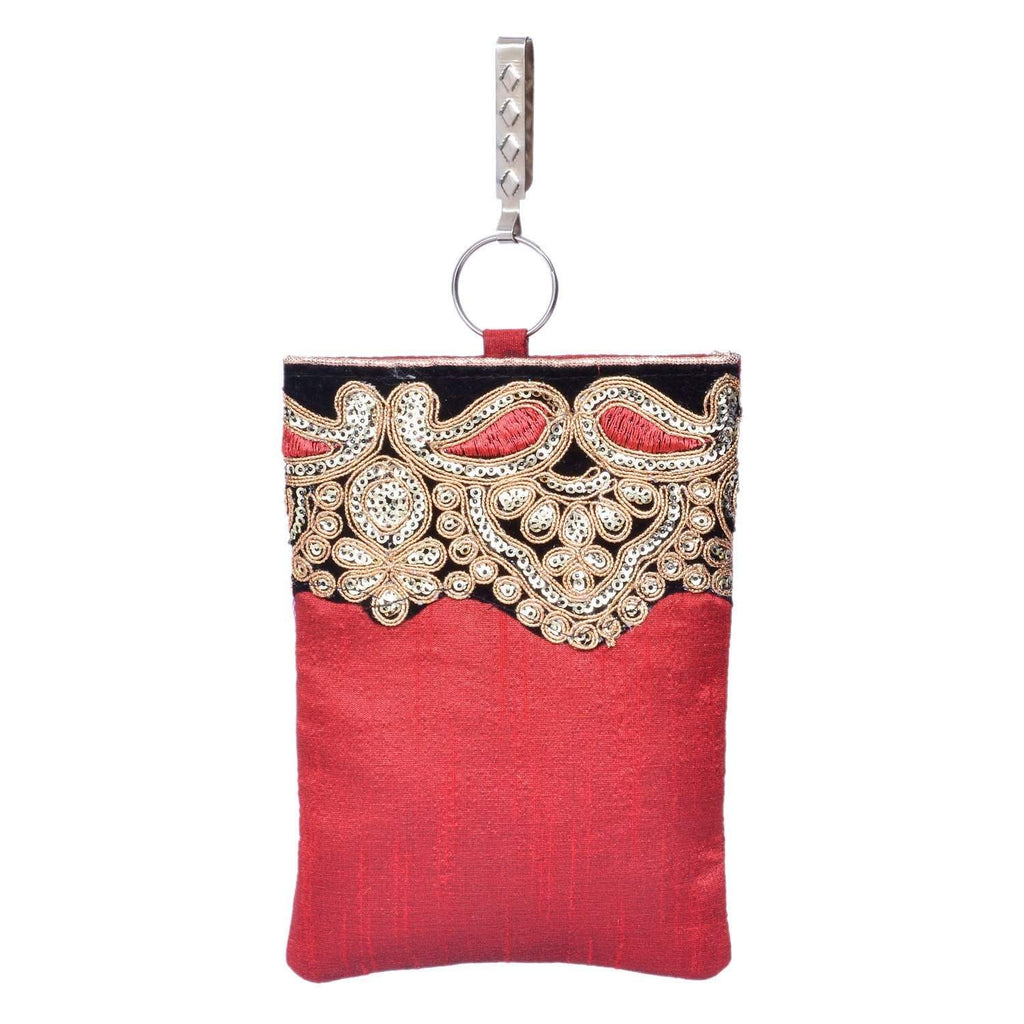 Waist Clip  Mobile Pouch (Maroon) - Bagaholics Gift
