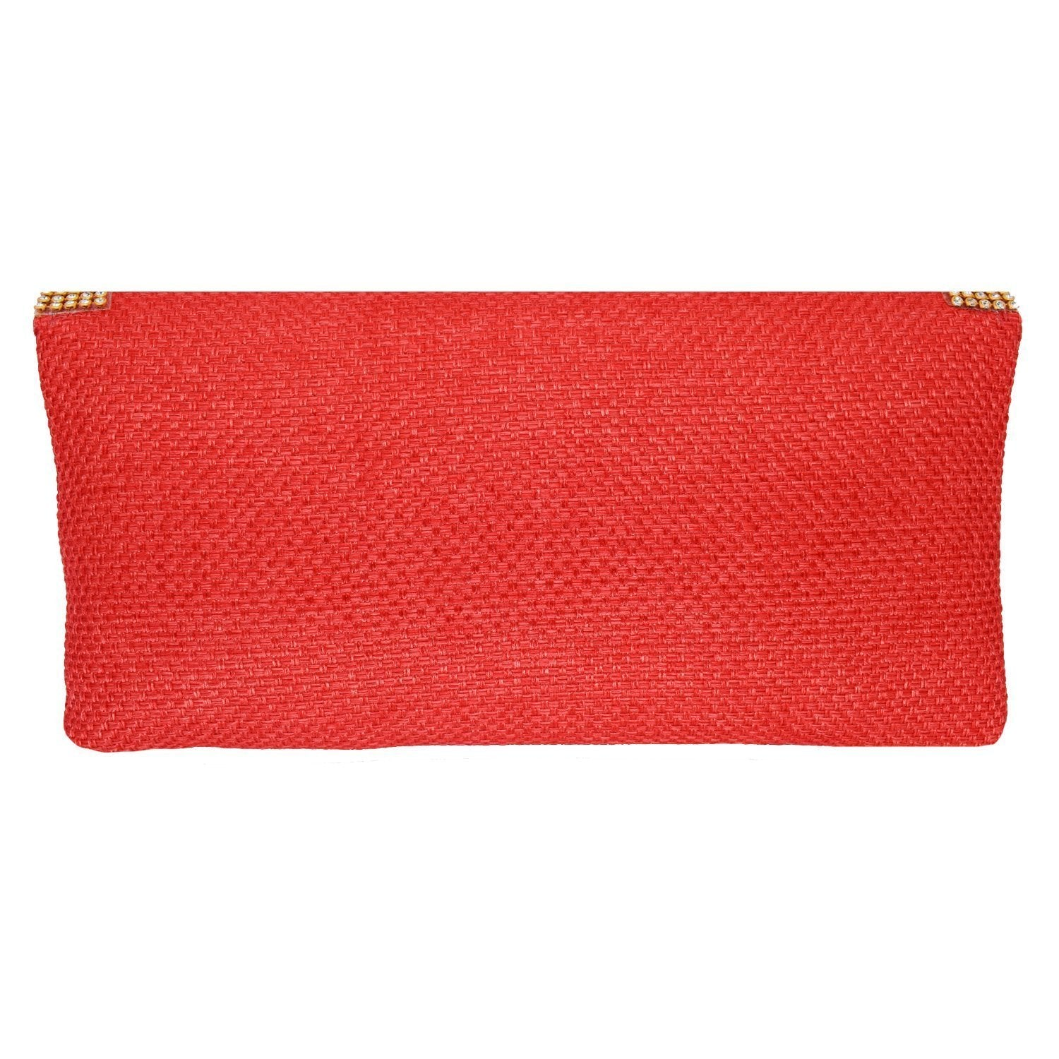 Party Ethnic Clutch Diamond Studded Jute Clutches - Bagaholics Gift
