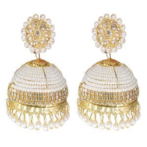 Gold Plated Bridal big Jhumka Jhumki Earrings
