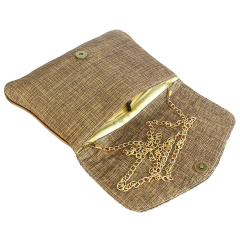 Ethnic Beads Pearls and Diamond Studded Jute Wedding Clutches - Bagaholics Gift