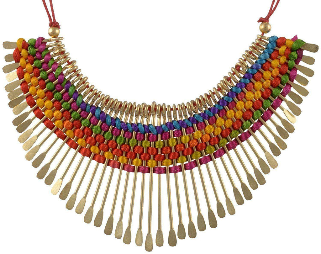Multicolor Non-Precious Metal Choker Necklace - Bagaholics Gift