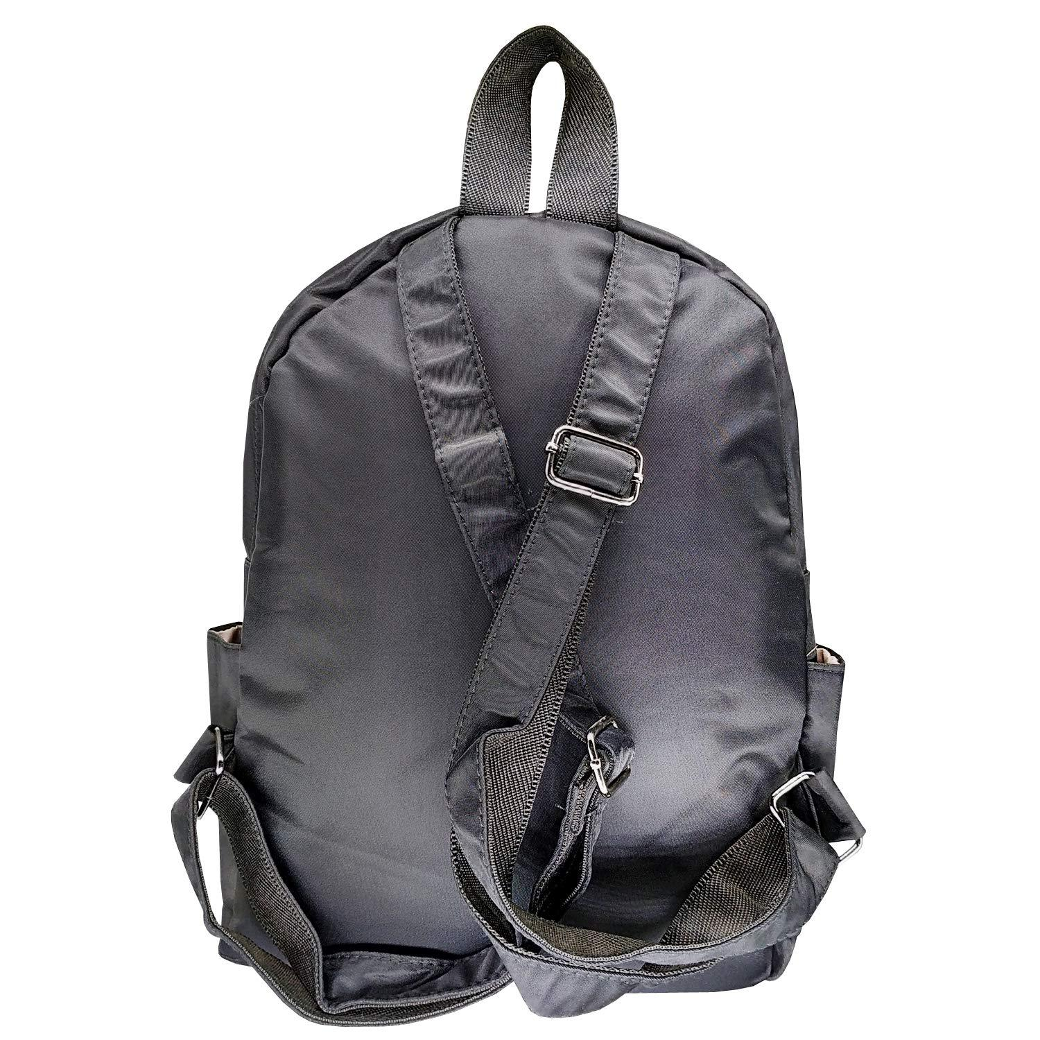 Artificial Leather Student Backpack For Girls (Black) - Bagaholics Gift