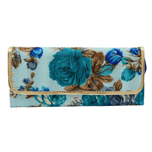 Floral Print Clutch with Detachable Chain - Bagaholics Gift