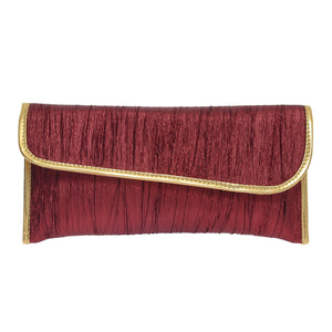 Party Wear Raw Silk Clutches - Bagaholics Gift