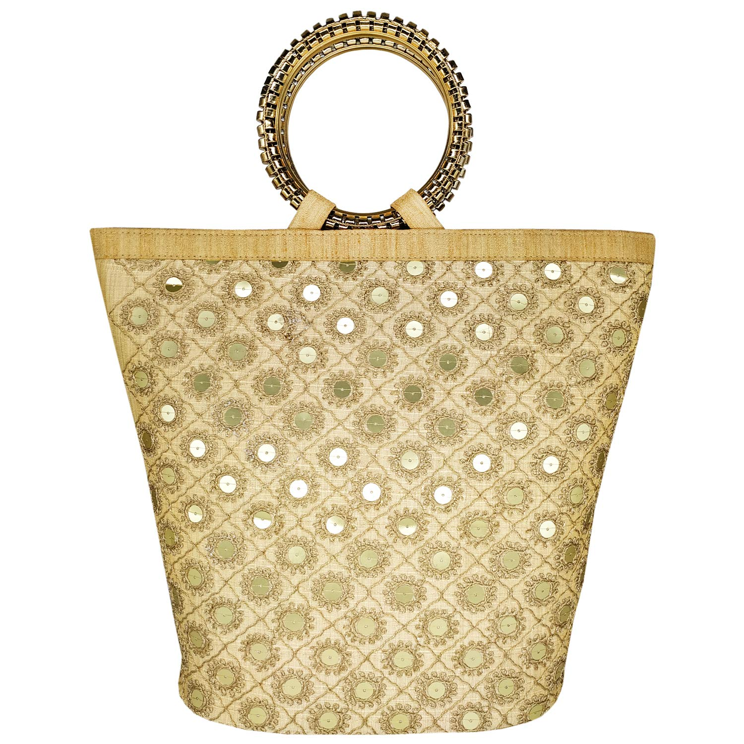 Ethnic Raw Silk Handbags Hand Held Bag - Bagaholics Gift