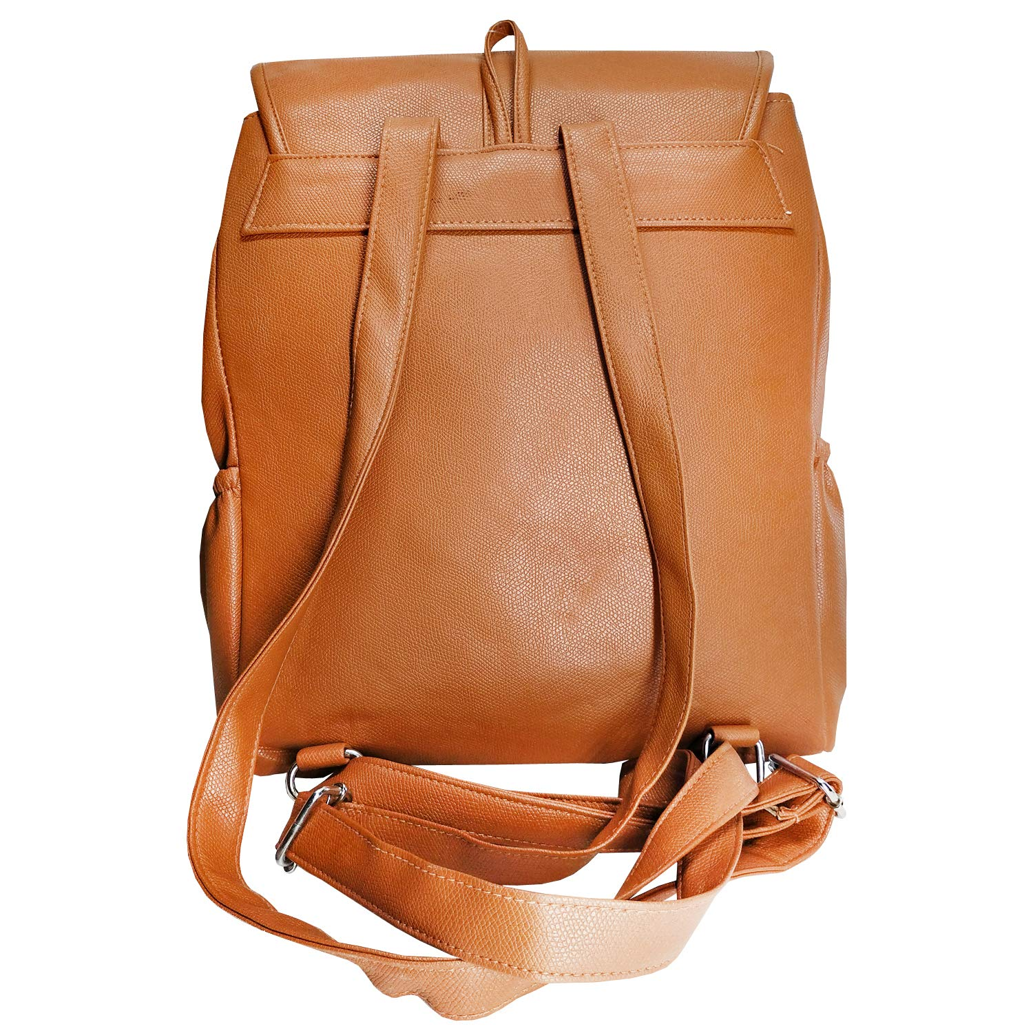 Artificial Leather Student Backpack For Girls (Brown) - Bagaholics Gift