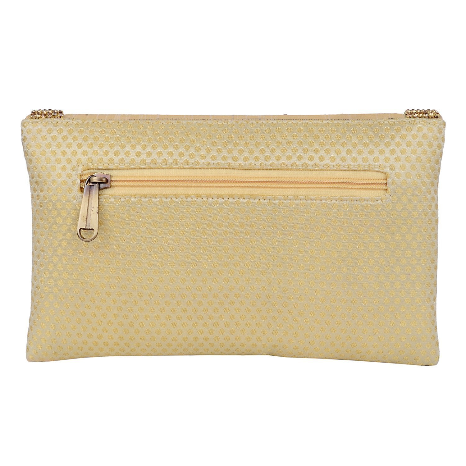 Ethnic Embroidery Clutch (Gold) - Bagaholics Gift