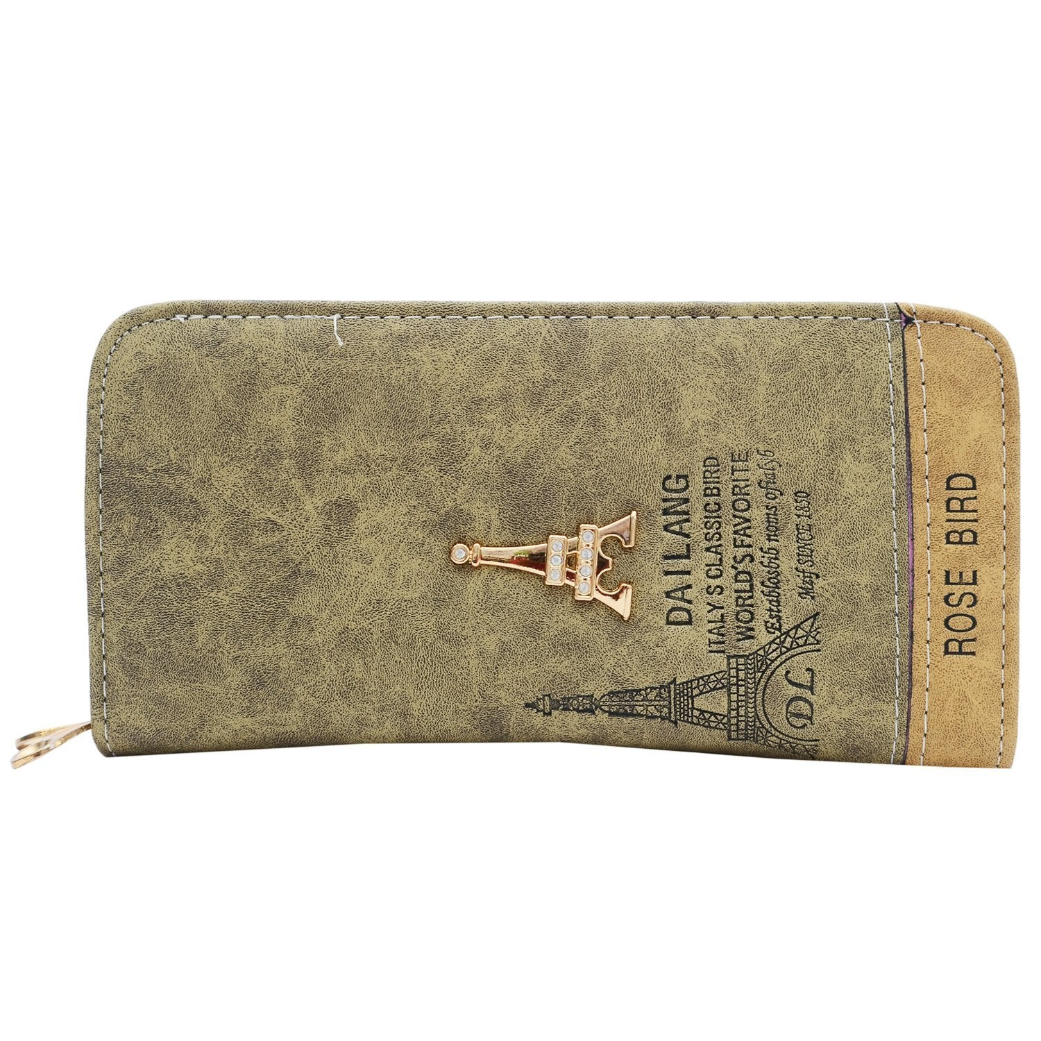 Paris Print Double Decker Wallet  (Grey) - Bagaholics Gift