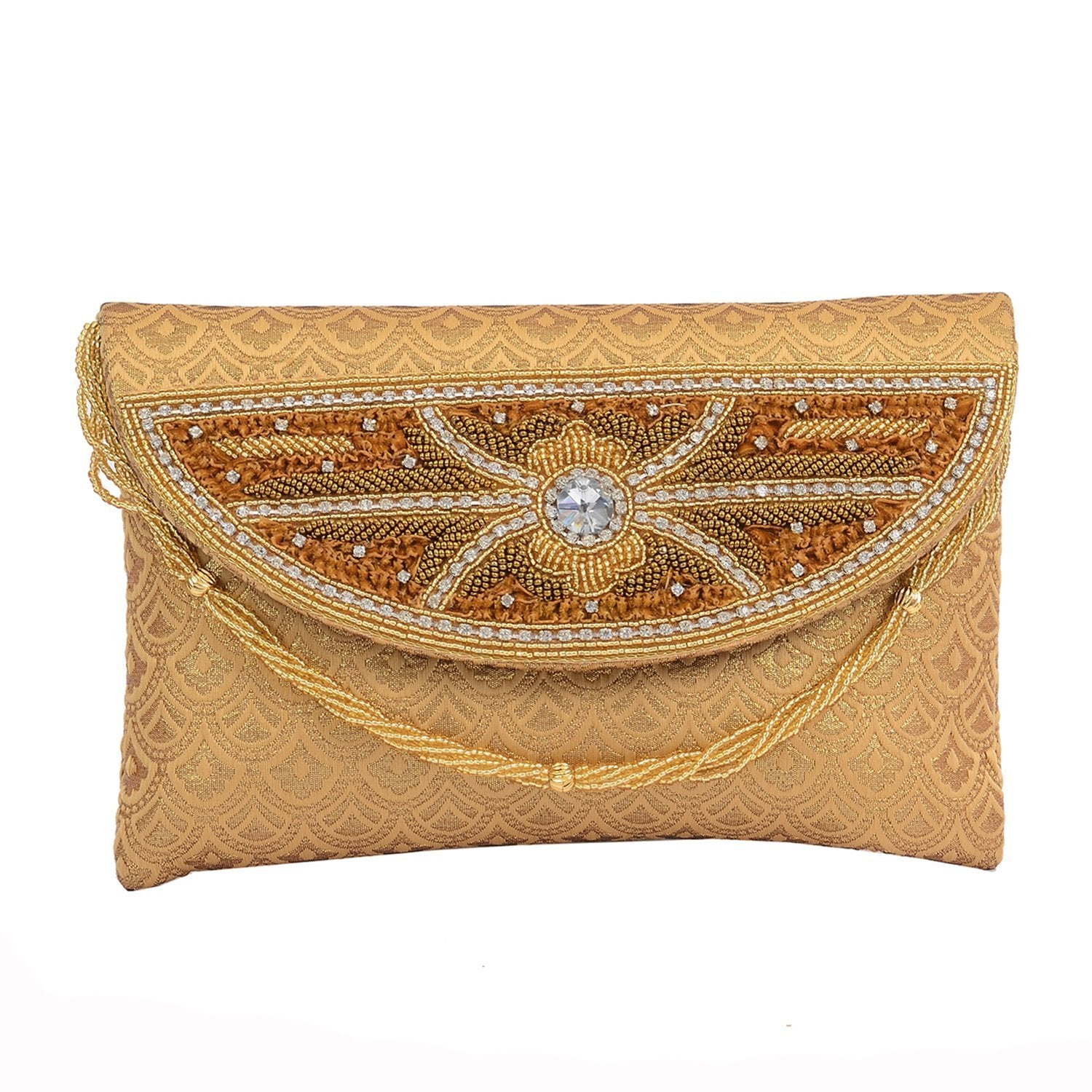 Handcrafted Ethnic Embroidery work Clutches - Bagaholics Gift