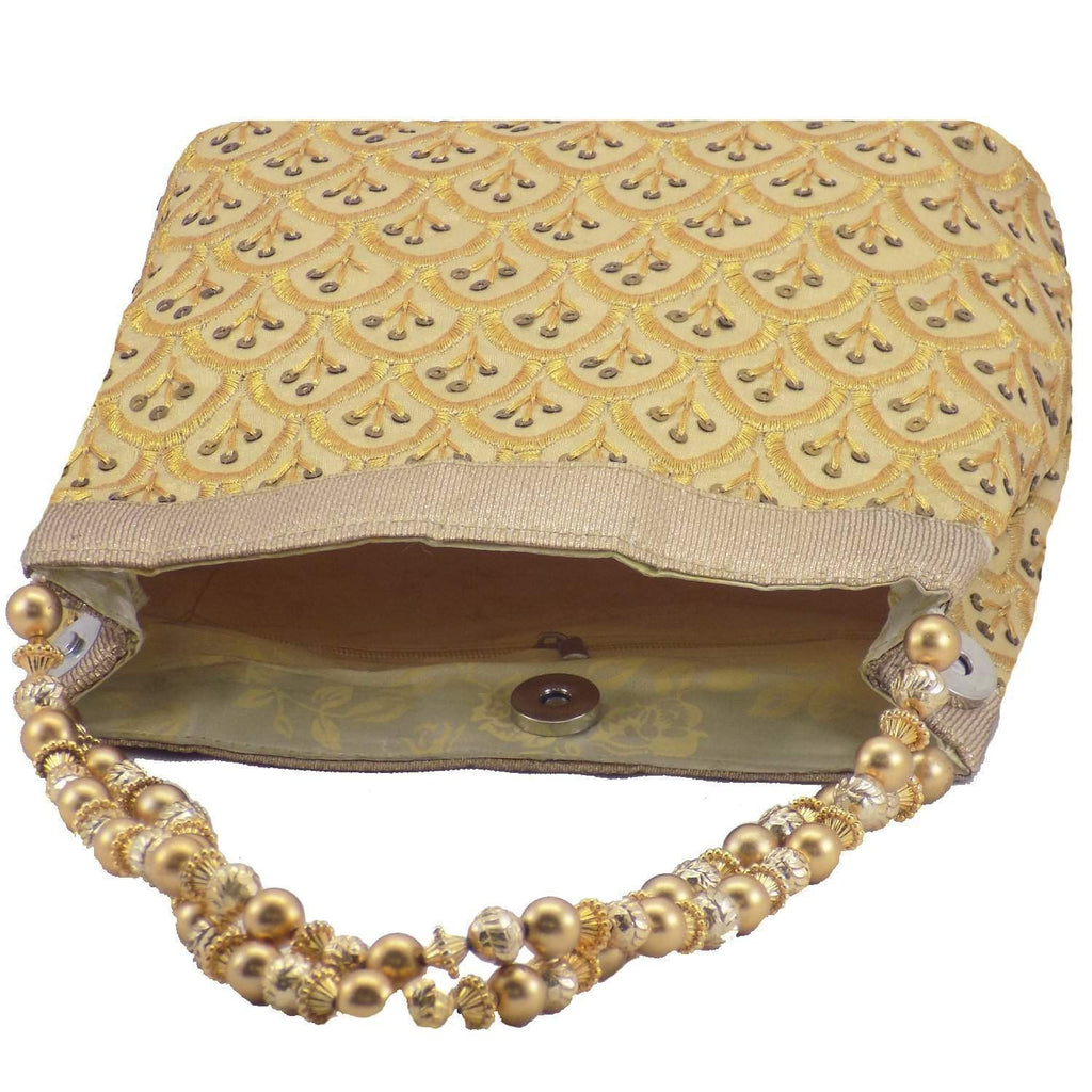 Ethnic Silk Potli Bag Batwa Pouch (Gold)