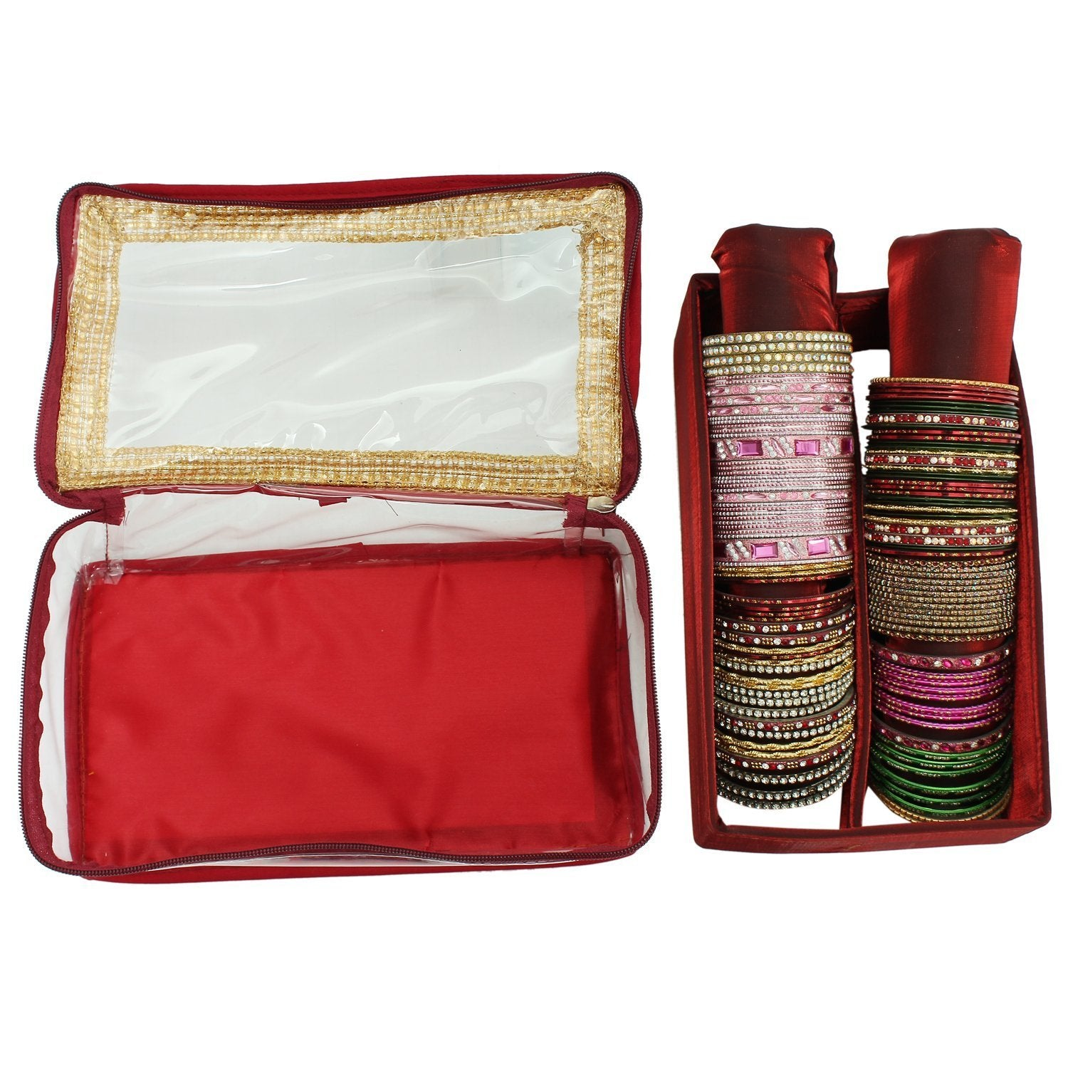 Maroon Bangle Box (2 Rods) - Bagaholics Gift