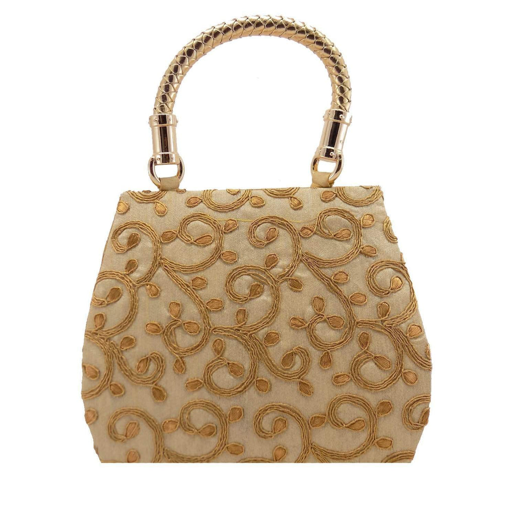 Ethnic Silk Bag (Gold)