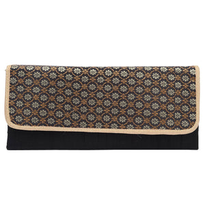 Party wear Brocade Clutch with Golden Chain - Bagaholics Gift