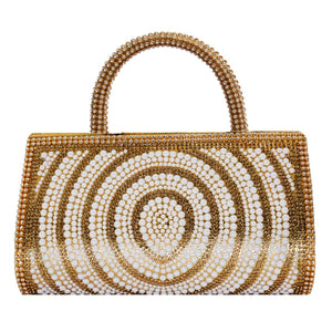 Diamond Studded Party Clutch (Gold) - Bagaholics Gift