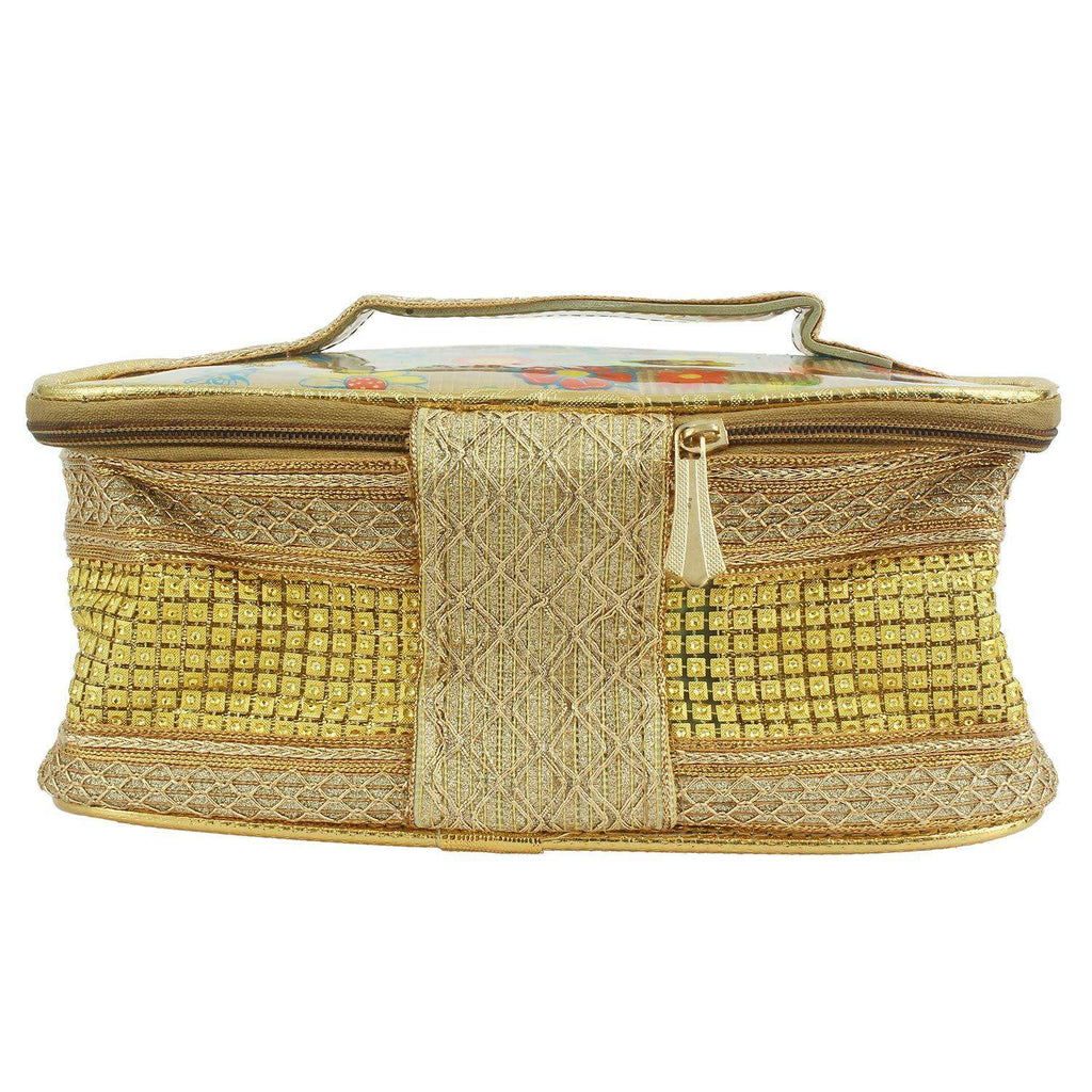 Multipurpose Cosmetic Bag Makeup Pouch (Gold) - Bagaholics Gift