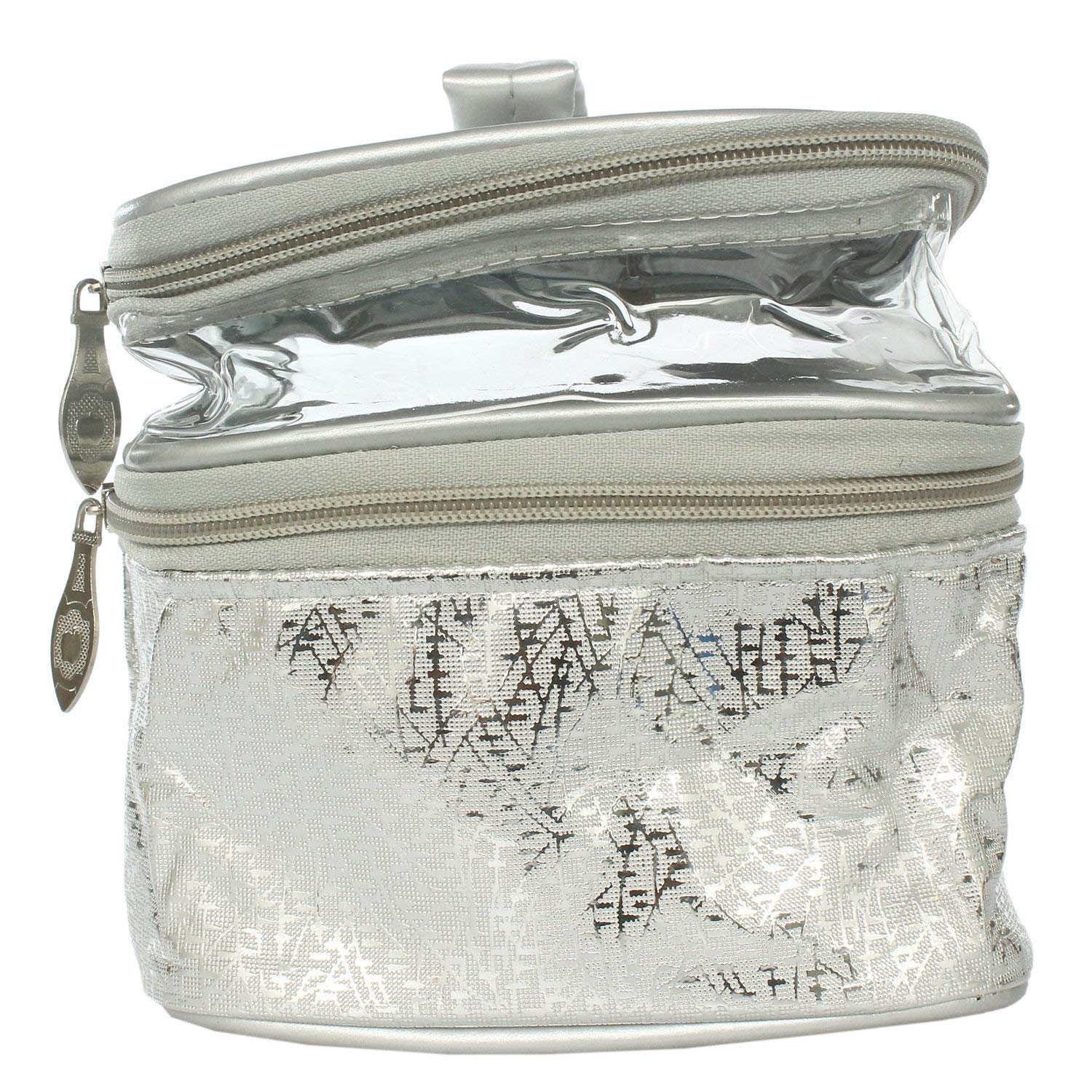 Multipurpose Makeup Pouch (Silver) - Bagaholics Gift