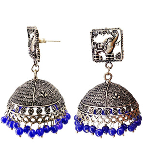 Elephant design Jhumka Jhumki Earrings - Bagaholics Gift