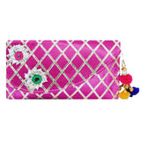 Girls Wallet with Pom Pom Wristlet Pouch - Bagaholics Gift