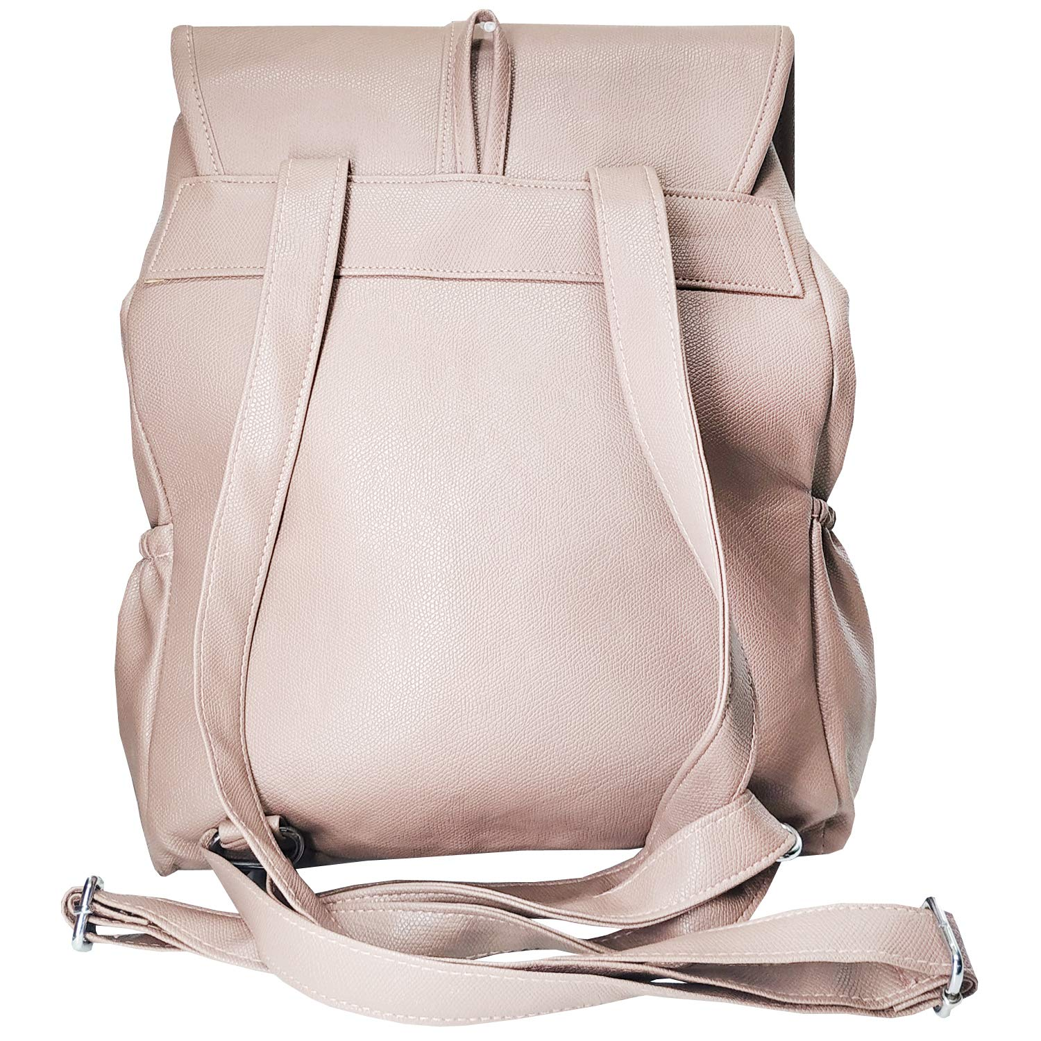 Artificial Leather Student Backpack For Girls (Beige) - Bagaholics Gift