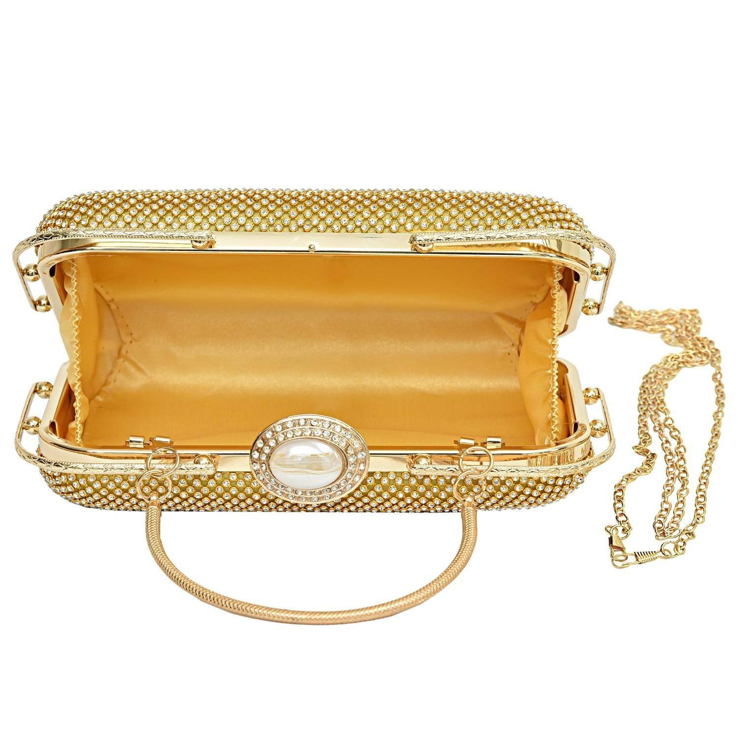 Cocktail Clutch (Gold) - Bagaholics Gift